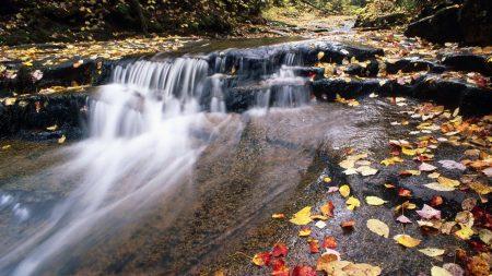 river, mountain, water
