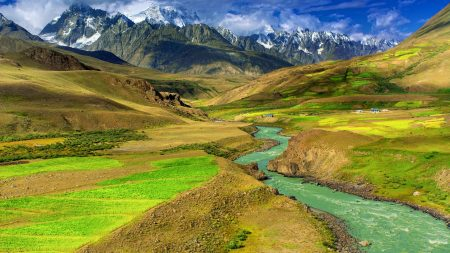 river, mountains, valley
