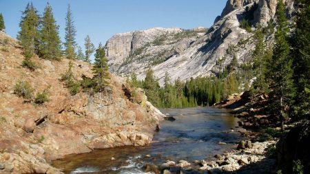 river, rocks, mountains