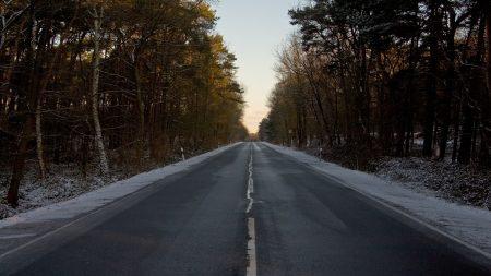 road, asphalt, winter