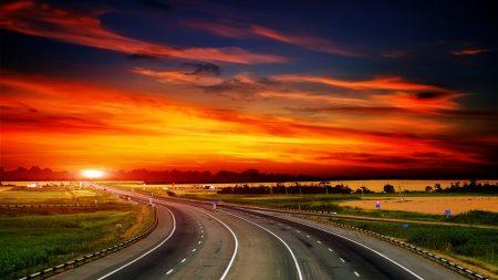 road, decline, asphalt