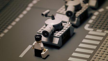 road, lego, tank