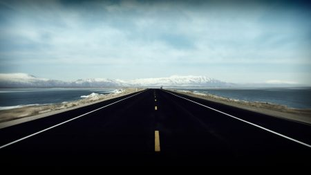 road, markings, distance