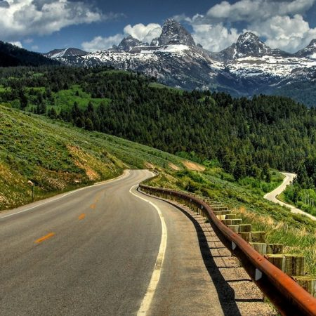 road, mountains, protection