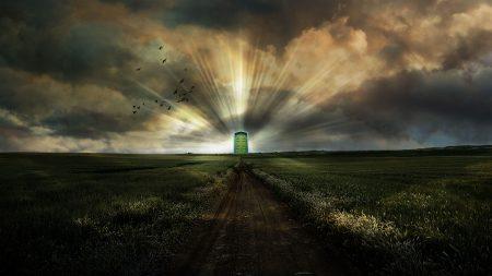 road, portal, doors in paradise