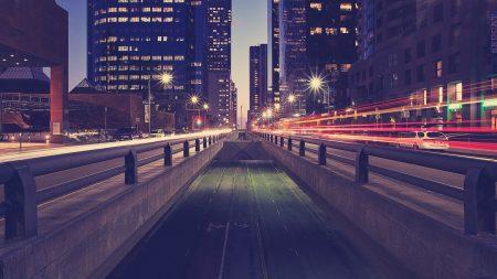 road, traffic, night