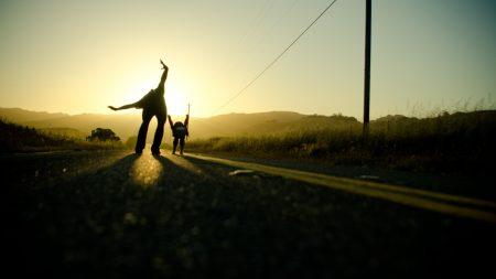 roads, mood, sky