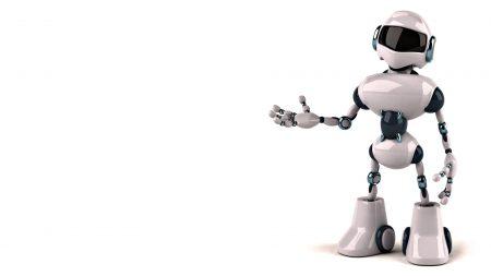 robot, bw, hand