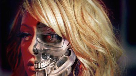 robot, cyborg, girl