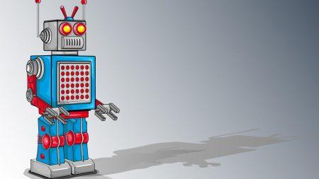 robot, design, blue