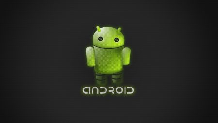 robot, green, android