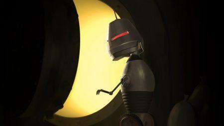 robot, red, eyes