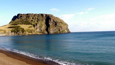 rock, beach, sea