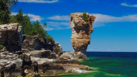 rock, coast, sea