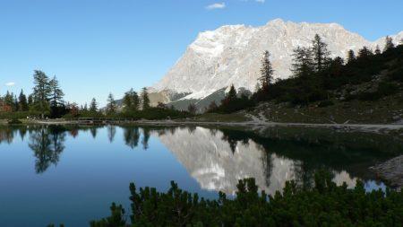 rock, mountains, lake