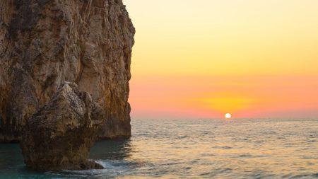 rocks, decline, horizon