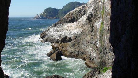 rocks, sea, water