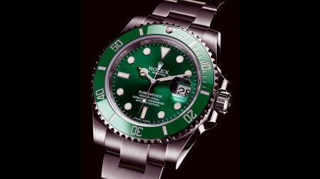 rolex, green submariner, watch