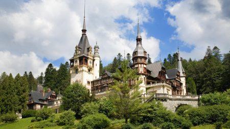 romania, castelul peles, castle