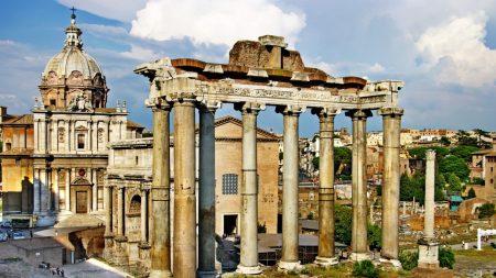 rome, area, column