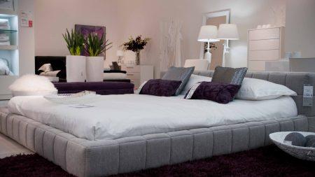 room, bed, design