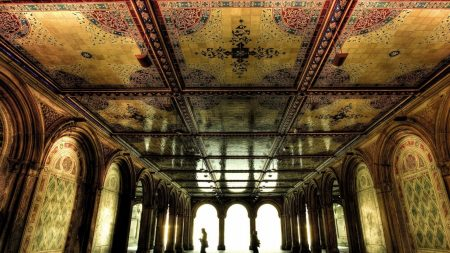 room, ceiling, mosaics
