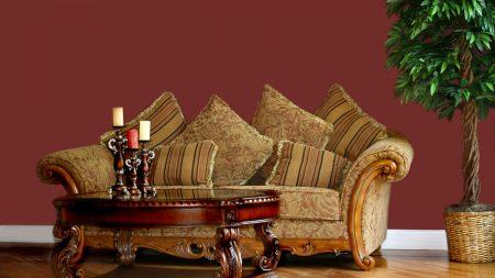 room, sofa, cushion