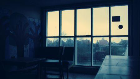 room, window, rain