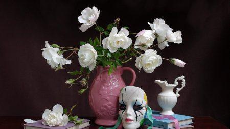 rose, bouquet, pitcher
