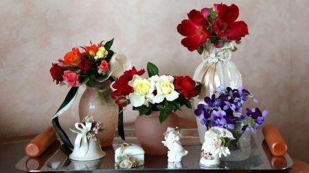 rose, violets, flowers