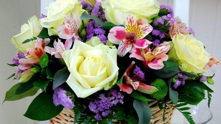 roses, alstroemeria, chrysanthemums