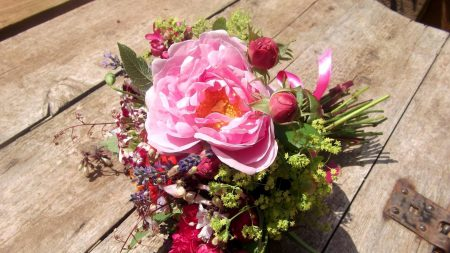 roses, buds, peonies