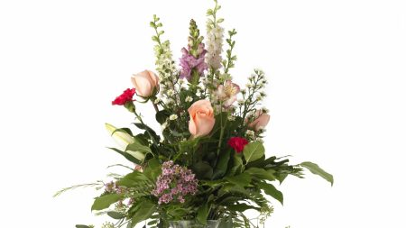 roses, carnations, lilies
