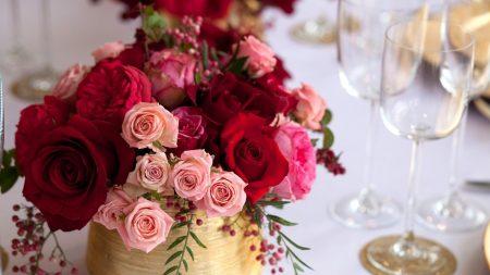 roses, design, berries