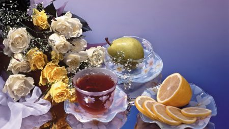 roses, flower, tea