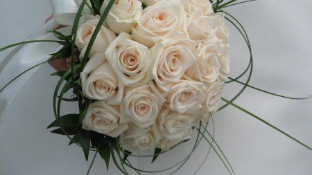 roses, flowers, bridal bouquet