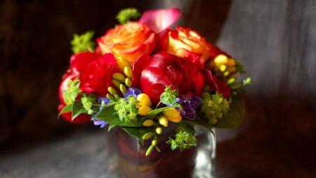 roses, flowers, freesia