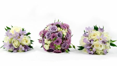 roses, freesia, lisianthus russell