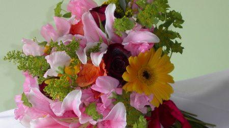 roses, gerbera, lilies