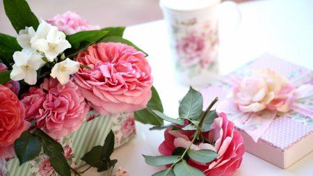 roses, jasmine, twigs
