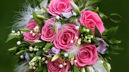 roses, lilys of the valley, flowers