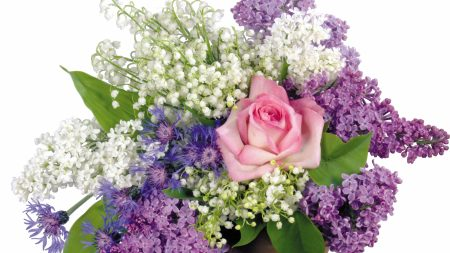roses, lilys of the valley, lilacs