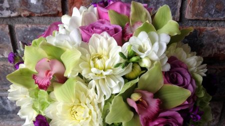 roses, orchids, chrysanthemums