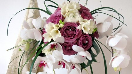 roses, orchids, freesia