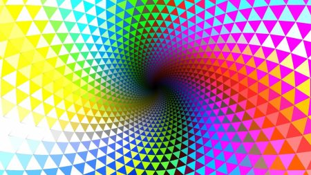 rotation, multi-colored, lines