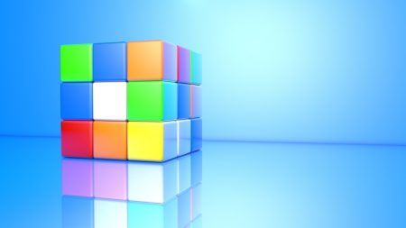 rubiks cube, colorful, face
