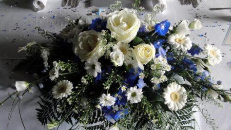 russell lisianthus, gerbera, daisies