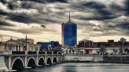 russia, city, river