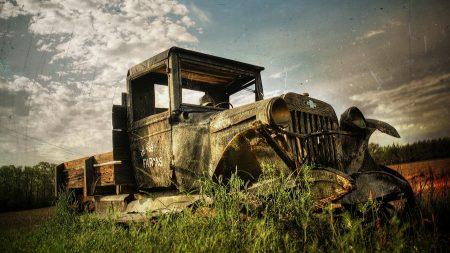 rusty, old, car