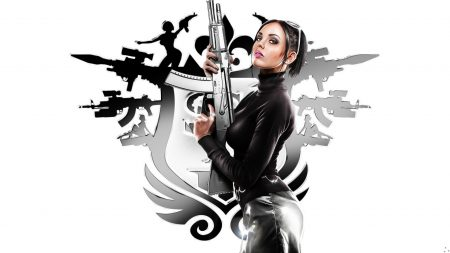 saints row, girl, gun